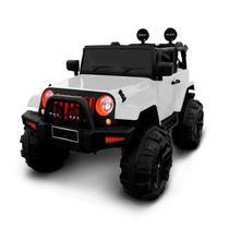 Mini Carro Eletrico 12v Jeep Branco com Controle BW028BR Infanti Importway -