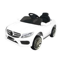Mini Carro Elétrico BW007 Com Controle Remoto - Branco (Modelo Mercedes Benz) - Importway