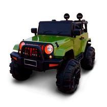 Mini Carro Eletrico Infantil 12v Jeep Verde com Controle BW028VD Importway -