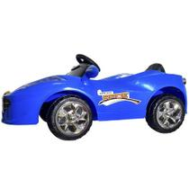 Mini Carro Eletrico Infantil Azul - Bateria Recarregável De 6v - Import Way - Importway