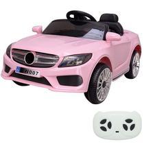 Mini Carro Elétrico Infantil Importway BW-007RS Rosa Com Controle Remoto -