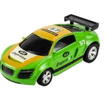 Mini carro veículo de controle remoto lata racing verde dtc -