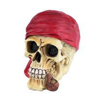 Mini caveira resina Red Scarf vermelho 6,5x8x9,5cm Urban -