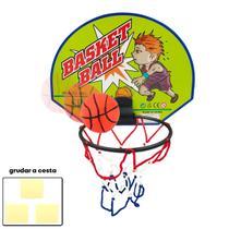Mini Cesta Basquete Infantil Aro Rede C/ Tabela + Bola - Folia