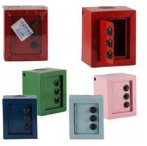 Mini cofre com segredo  5 unidades cores sortidas - Produto Nacional -