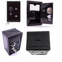 Mini cofre de segredo e chaves de metal retro camuflado para dinheiro joias segurança mecanico - Makeda