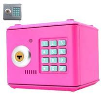 Mini Cofre Digital Eletrônico Aço C/ Chave - Cores Sortidas - Garota Bonita