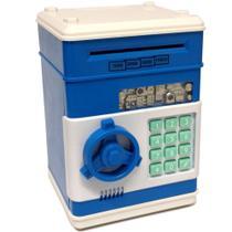 Mini Cofre Eletrônico Digital Senha para Notas e Moedas Azul GT170903-BL - Lorben -