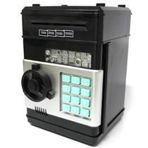 Mini Cofre Eletrônico Digital Senha para Notas e Moedas Preto GT170903-B - Lorben -