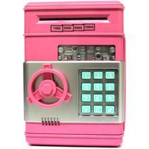 Mini Cofre Eletrônico Digital Senha para Notas e Moedas Rosa GT170903-PK - Lorben -