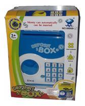 Mini Cofrinho Eletrônico Digital Senha Puxa Notas Automático COR Azul - Cn - Pjmasks