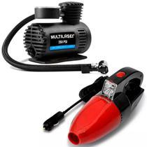 Mini Compressor Ar 250 Psi e Aspirador Portátil 12v Multilaser -