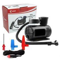 Mini Compressor de Ar Automotivo Portátil 12V Cinoy 250 Psi com 3 Bicos Adaptadores YN-AR001 -
