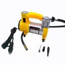 Mini Compressor de Ar e lanterna veicular 12v Portátil pneu e infláveis - Idea