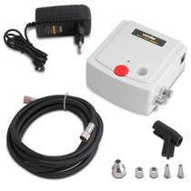 Mini Compressor para Aerógrafo Portátil Vonder Bivolt para Artesanato Micropintura e Retoque Branco -