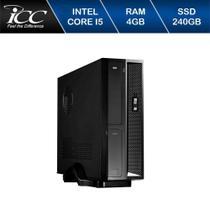 Mini Computador ICC SL2547D Intel Core I5 4gb HD 240GB DVDRW WIndows 10 -