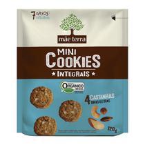 Mini Cookies 4 Castanhas Brasileiras Mãe Terra 120g -