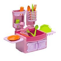 Mini Cozinha De Brinquedo Cotiplás Play Time Com Acessórios Rosa -