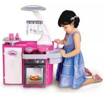 Mini Cozinha Infantil Armário Pia Fogão Geladeira Completa - Cotiplás
