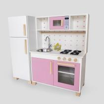 Mini Cozinha Mdf Infantil Completa Com Geladeira Rosa - Eita! Casa Perfeita