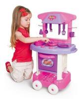 Mini Cozinha Play Time Cotiplás Menina Com Acessórios - Cotiplas