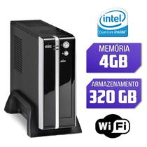Mini CPU Intel Dual Core, 4GB, HD 320GB, Wifi com Serial e Paralela - Alfatec