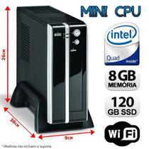 Mini CPU Intel Quad Core, 8GB, SSD 120GB, Wifi com HDMI - Alfatec