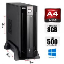 Mini Cpu Quad Core AMD 5100, 8GB Ram, HD 500GB, Windows 10, Porta Serial - Alfatec