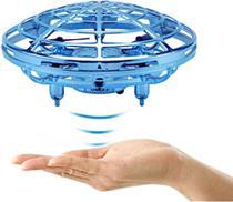Mini Drone Ufo Helicóptero Brinquedo Voador cor: Azul - RTS