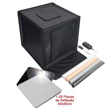 Mini Estúdio Fotográfico Portátil 60x60x60 - LED e Placa Reflexão - Leadwin