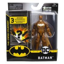 Mini Figura Articulada com Acessórios Surpresa - 9 Cm - DC Comics - Gold Batman - Sunny -