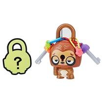 Mini Figura - Cadeado Surpresa - Lock Stars - Brown Sloth - Hasbro -