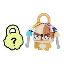 Mini Figura - Cadeado Surpresa - Lock Stars - Cachorro Marrom - Hasbro -