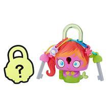 Mini Figura - Cadeado Surpresa - Lock Stars - Sereia Rosa - Hasbro -