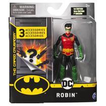 Mini Figura com Acessórios Surpresa - Robin - 10 cm - DC Comics - Sunny -
