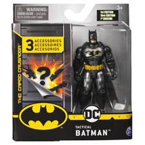 Mini Figura com Acessórios Surpresa - Tactical Batman - 10 cm - DC Comics - Sunny -