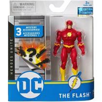 Mini Figura com Acessórios Surpresas - Flash - 10 cm - DC Comics - Sunny -