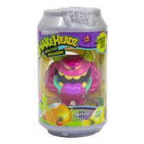 Mini Figura com Sons - Monstros Malucos - Shakeheadz - Guto Gasoso Rosa - DTC -