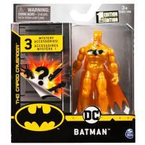 Mini Figura DC Batman Dourado Acessórios Surpresa - Sunny -