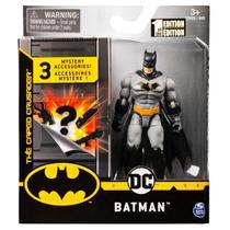 Mini Figura DC Comics Batman Cinza Acessórios Surpresa-Sunny -