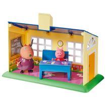 Mini Figura e Acessórios - Escolinha e Ônibus Escolar - Peppa Pig - DTC -