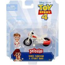 Mini Figura e Veículo Disney Pixar- Toy Story 4 Duke Caboom e Moto de Manobra - Mattel -