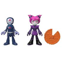 Mini Figura e Veículo - Imaginext - Os Jovens Titãs - Red X e Jinx - Fisher Price - Mattel