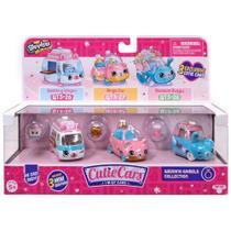 Mini Figura e Veículo - Shopkins Cuties Cars - 3 Unidades - Vandobolo, Carranel e Bugue Buquê - DTC -