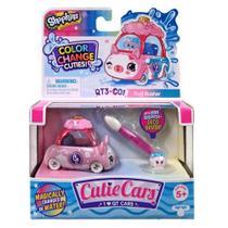Mini Figura e Veículo - Shopkins Cuties Cars - Muda de Cor - Algodão Ligeiro - DTC -