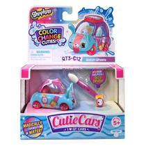 Mini Figura e Veículo - Shopkins Cuties Cars - Muda de Cor - Mili Segundo - DTC -