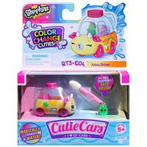 Mini Figura e Veículo - Shopkins Cuties Cars - Muda de Cor - Suco Racer - DTC -