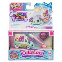 Mini Figura e Veículo - Shopkins Cuties Cars - Muda de Cor - TV Car - DTC -
