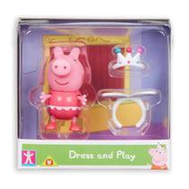 Mini Figura Peppa Pig com Roupinhas - Peppa com Roupa de Bailarina - Sunny -