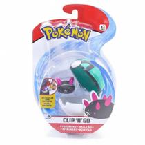 Mini Figura Pokémon e Pokebola Clip Pyukumuku e Malla Ball - Dtc